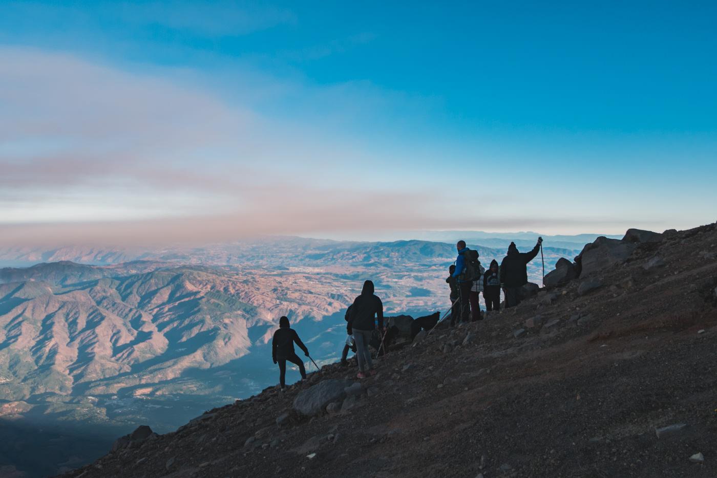Auf dem Gipfel des Vulkans Acatenango