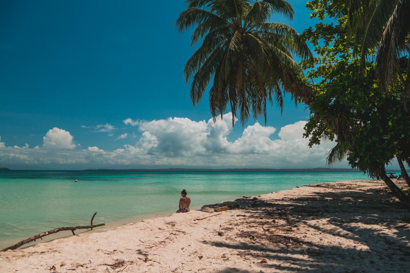 Strand von Cayo Zapatilla in Panama