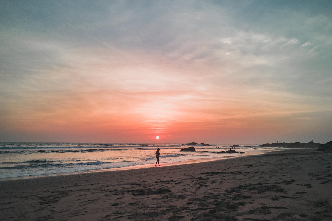 Sonnenuntergang in Las Penitas in Nicaragua