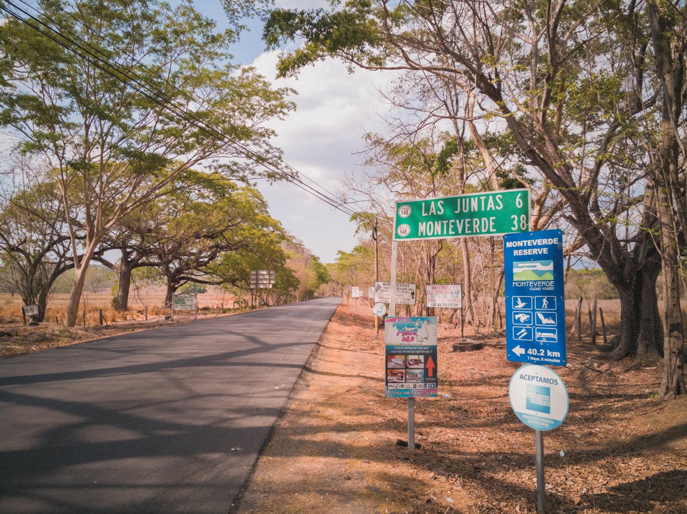 Straße nach Monteverde