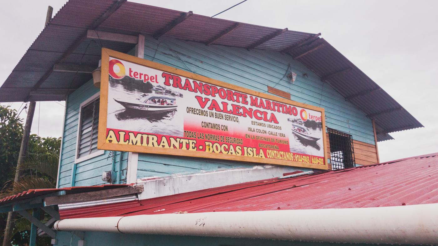 Taxiboot von Almirante nach Bocas del Toro