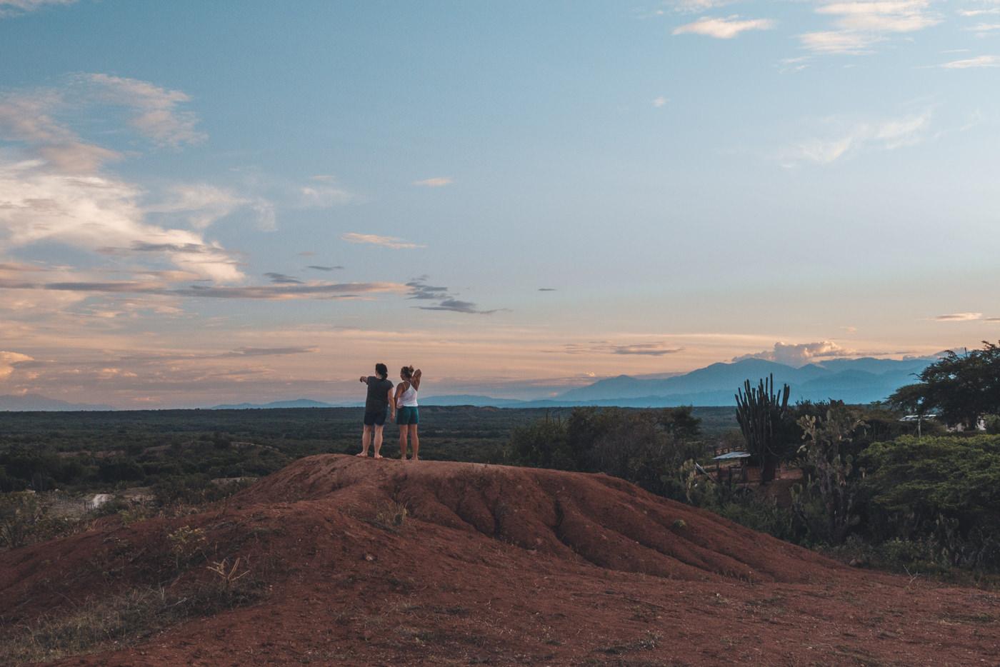 Blick in die Tatacoa Wüste, Kolumbien