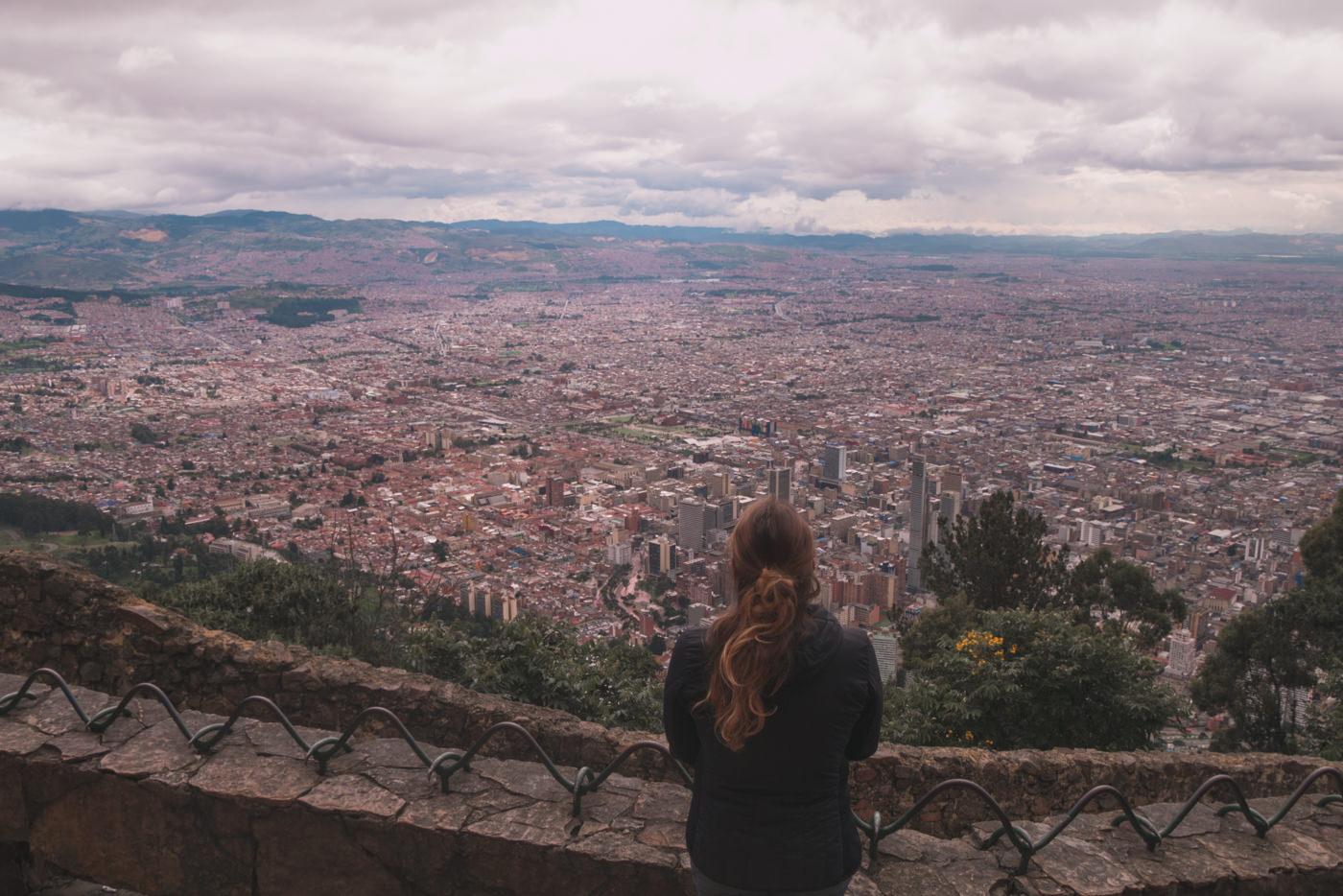Ausblick von Montserrate auf Bogotá