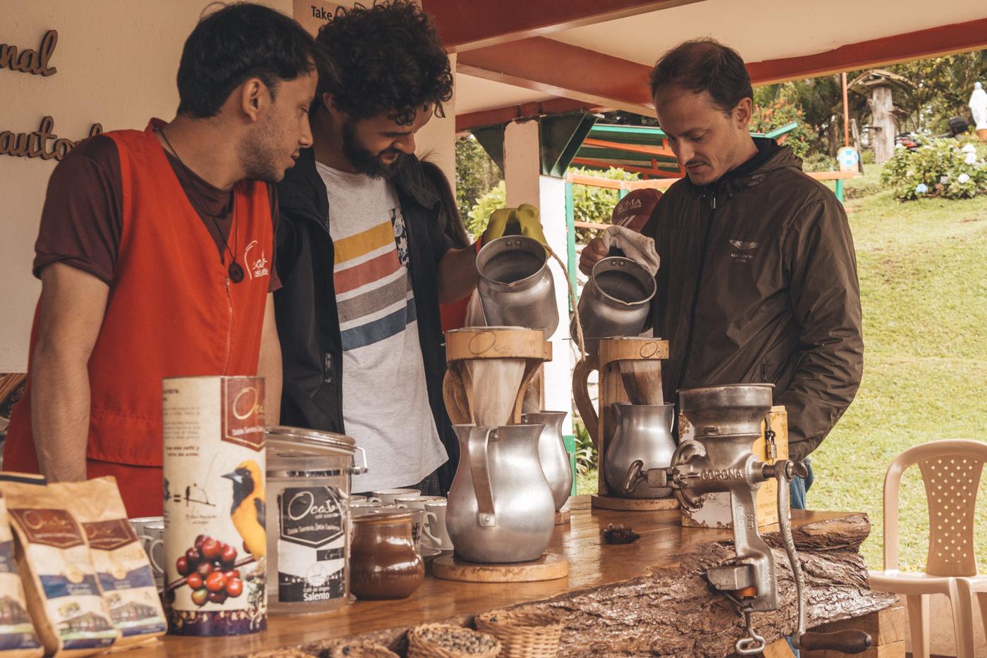 Kaffezubereitung auf unserer Kaffeetour