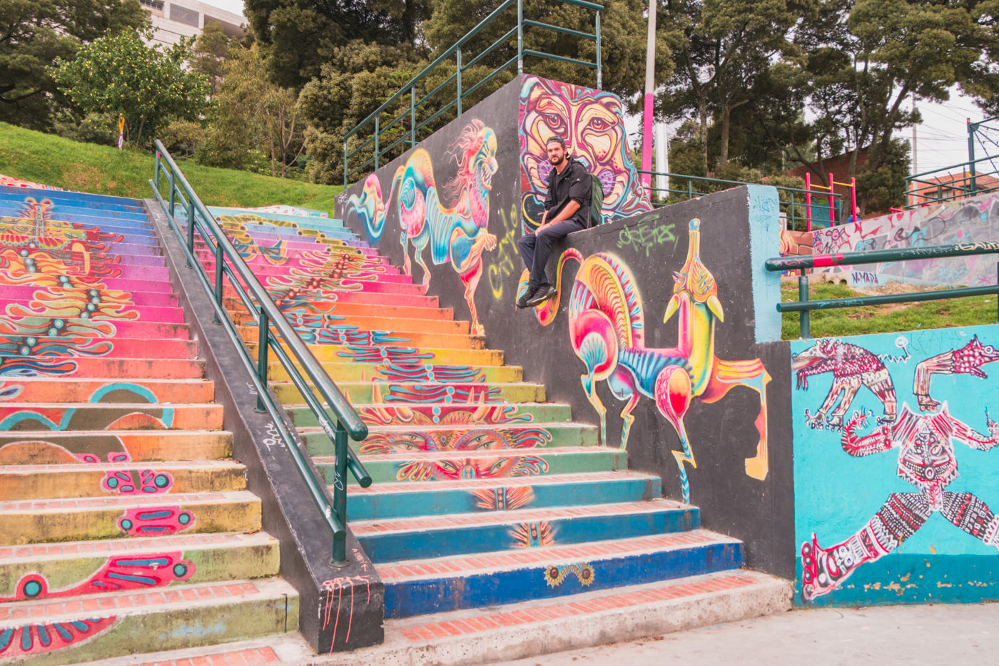 Grafitti in Bogotá, Kolumbien