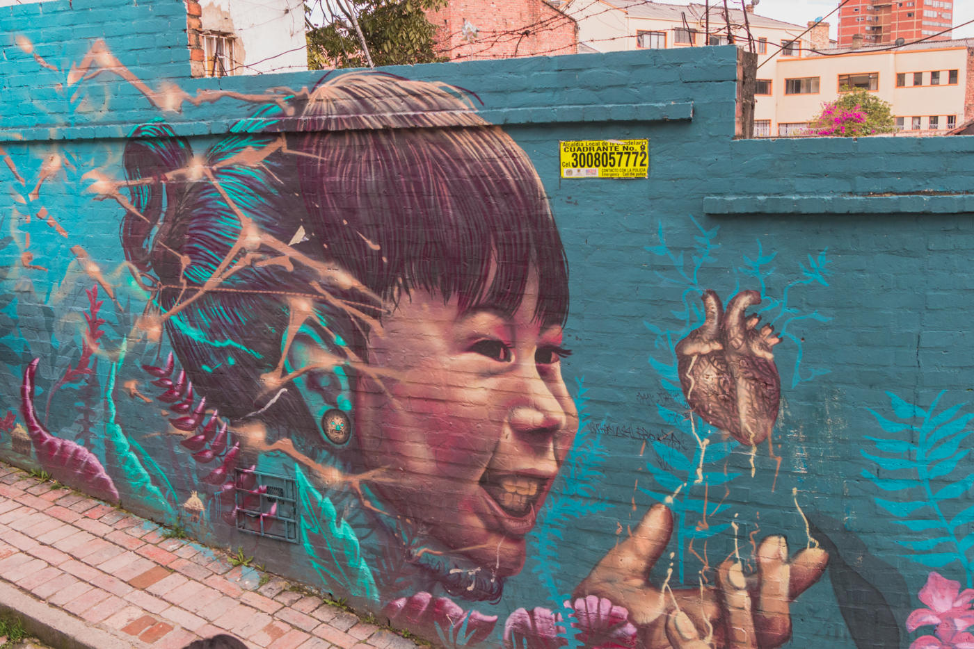 Streetart in der Altstadt Bogotá's - La Candelaria