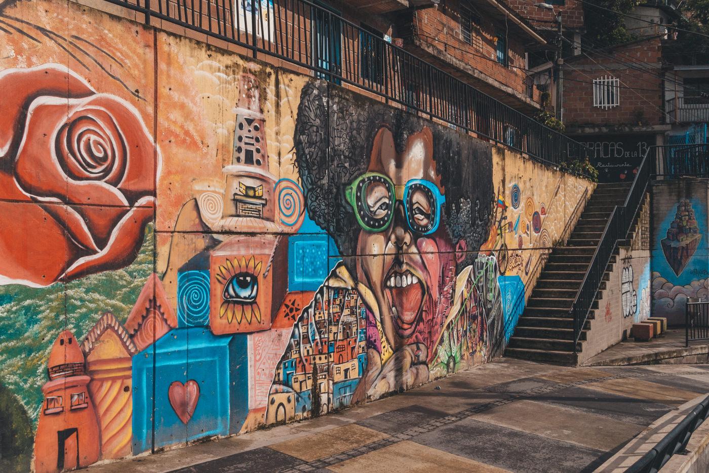 Streetart in der Comuna 13 in Medellín