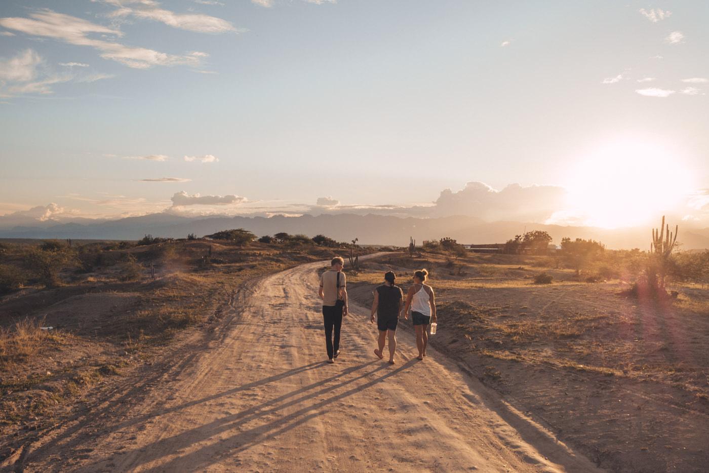 Wir in der Tatacoa Wüste in Kolumbien
