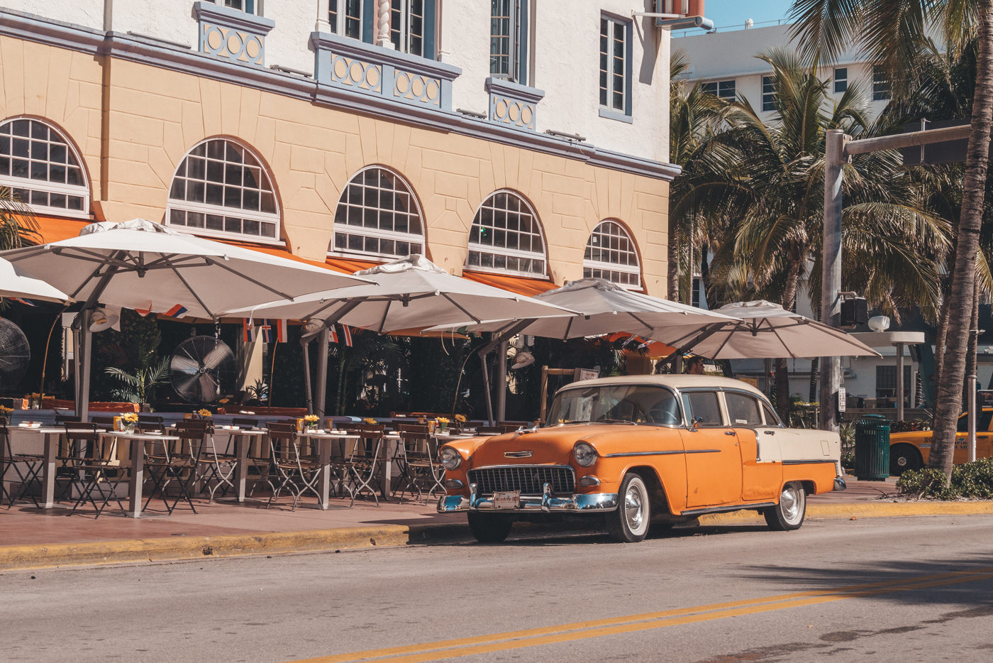 Oldtimer Auto am Ocean Drive in Miami