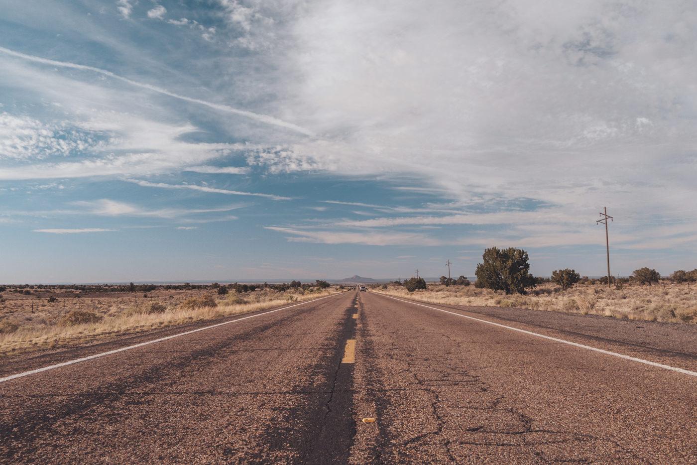 Straße zum Grand Canyon in Arizona