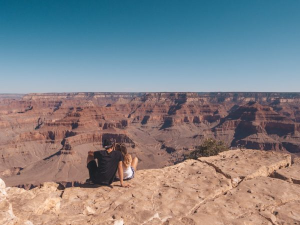 Wir am Grand Canyon South Rim in der USA