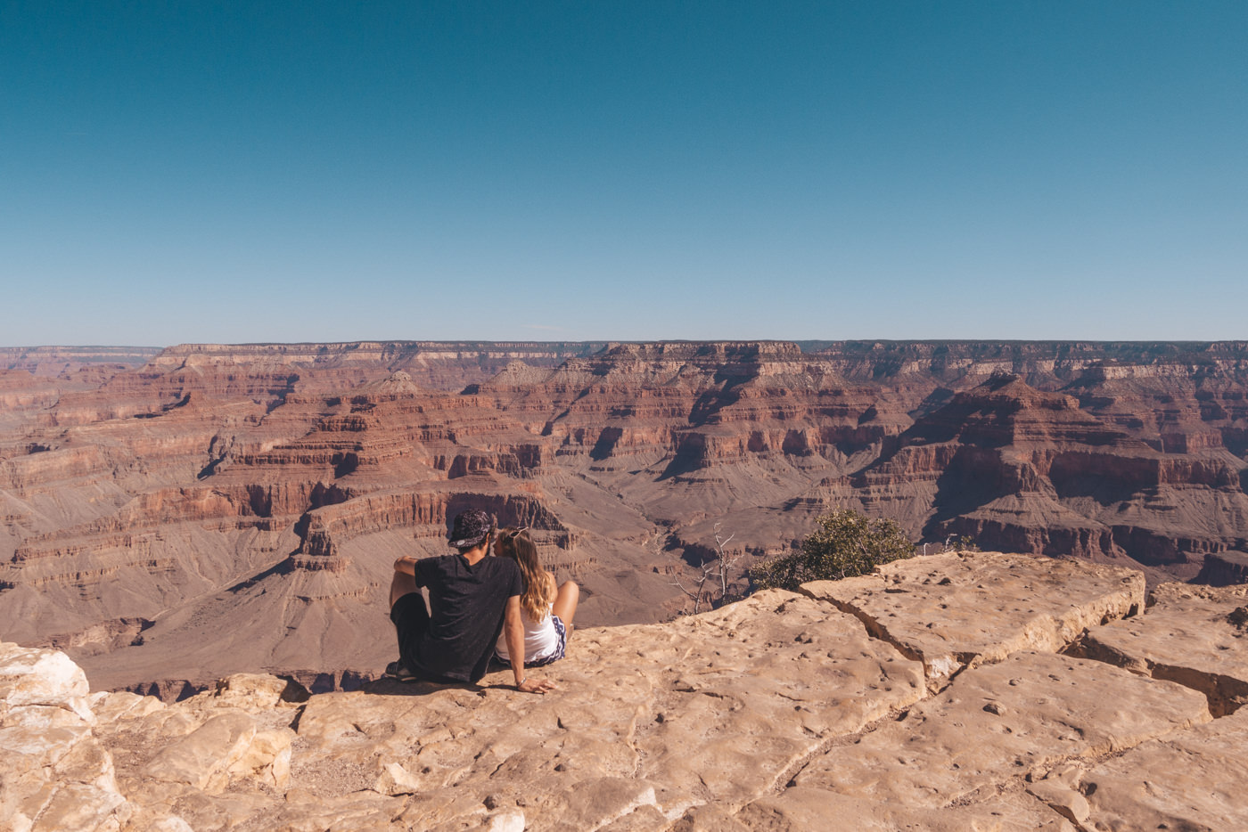 Wir am Grand Canyon South Rim in der USA