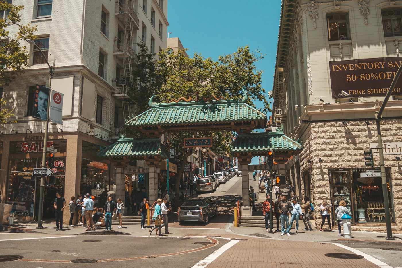 Eingang zu China Town in San Francisco