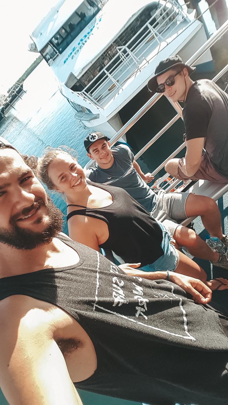 Wir auf dem dem Boot auf den Fidschis