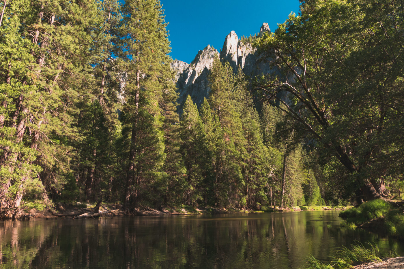 Fluss im Yosemite Nationalpark