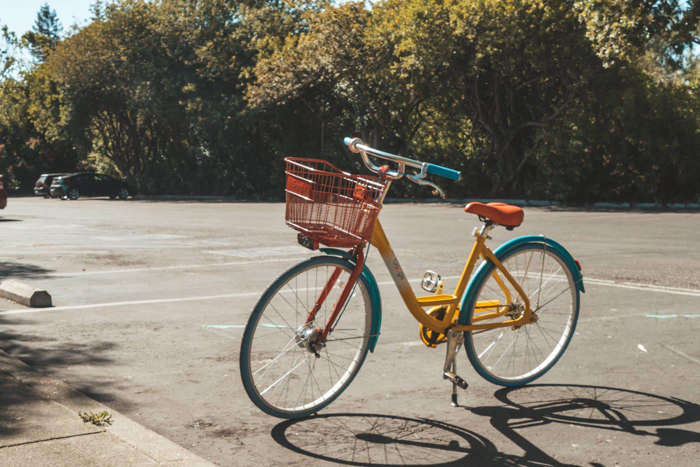 Fahrrad von Google im Sillicon Valley