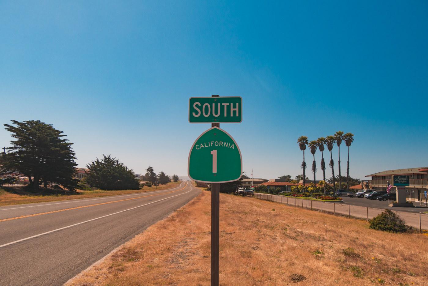 Schild Highway 1 Kalifornien