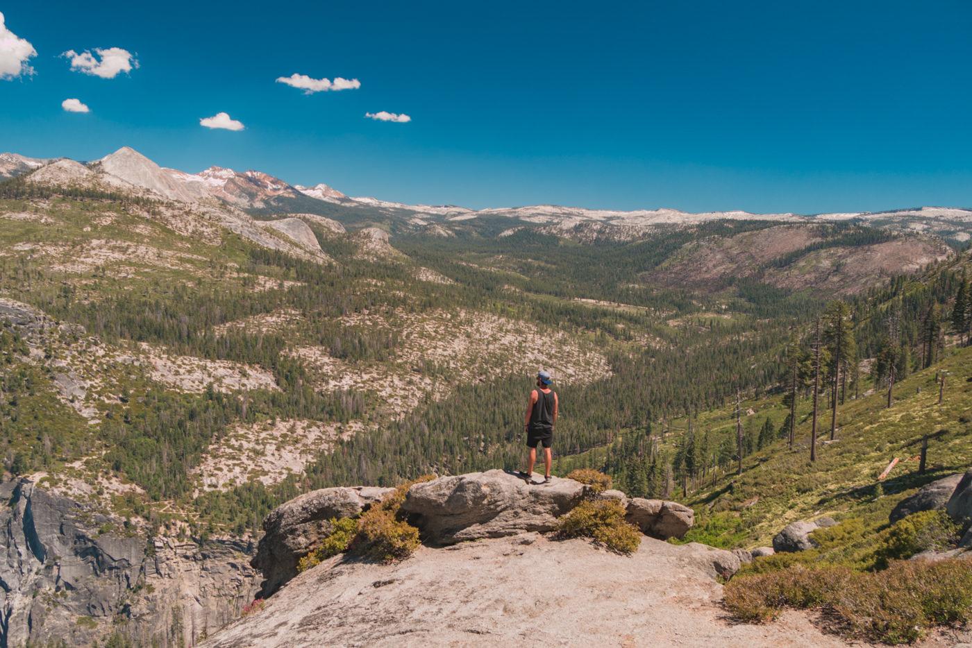 Matthias im Yosemite Nationalpark