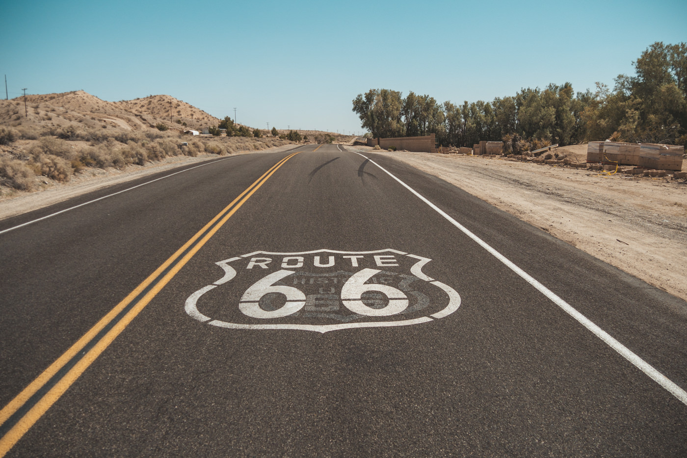 Historische Route 66 in der USA