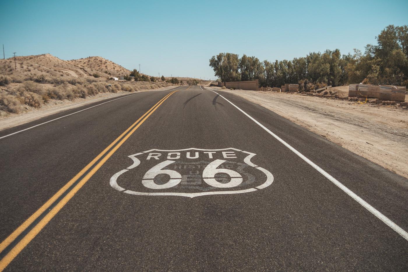 Historische Route 66 in der USA