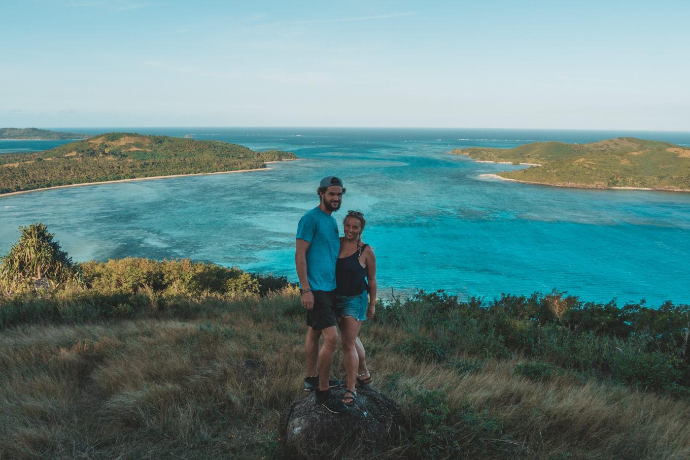 Wir auf Goat Island auf den Fidschi Inseln