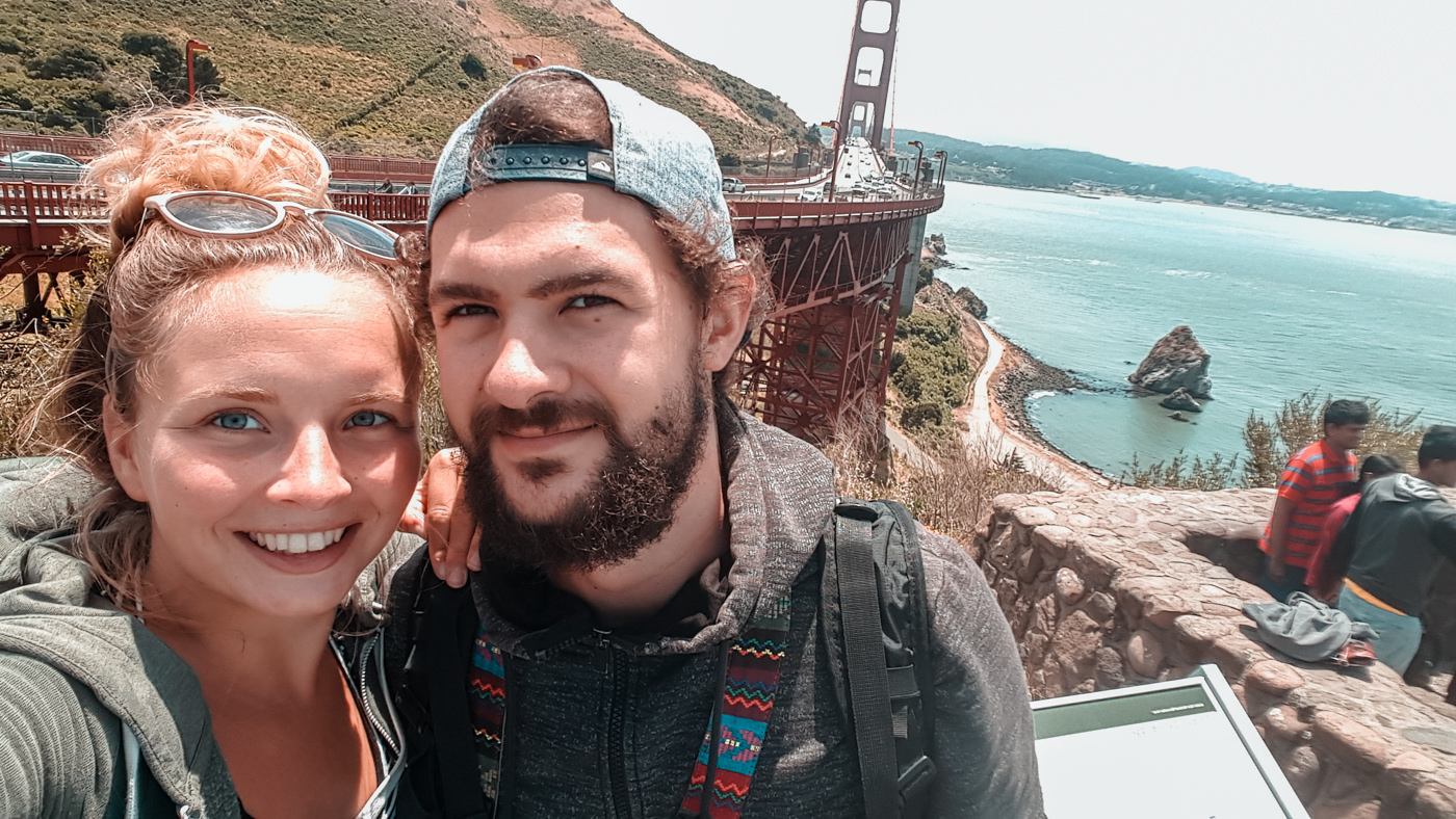 Wir an der Golden Gate Brigde