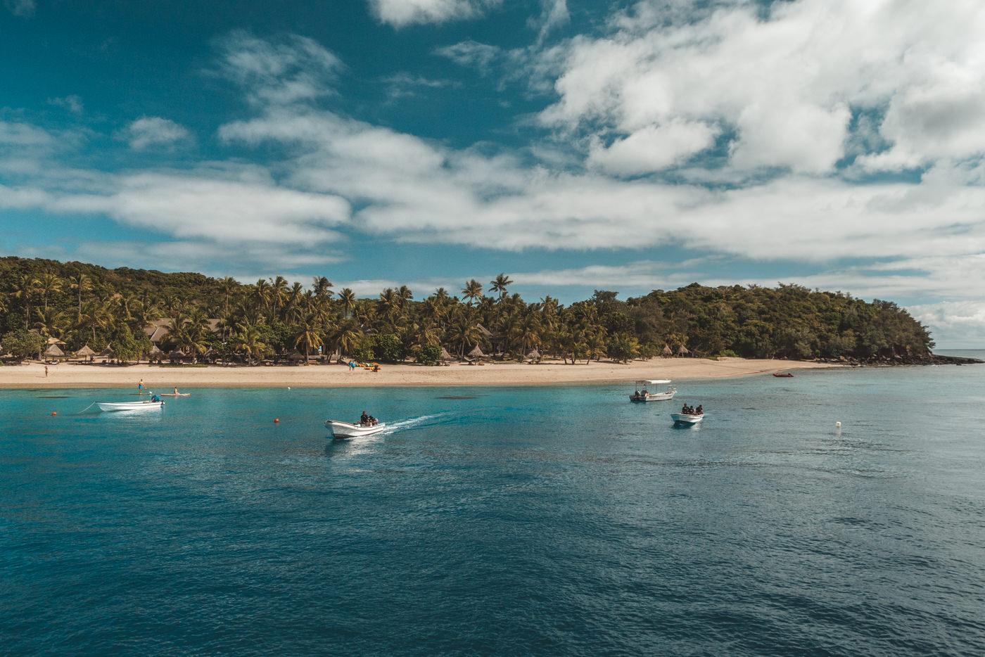 Blick auf den Strand der Fidschi Inseln