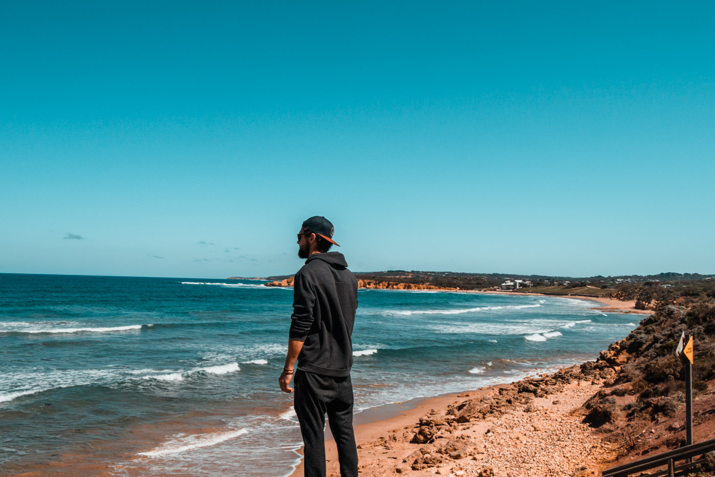 Matthias am Aussichtspunkt Jan Juc an der Great Ocean Road