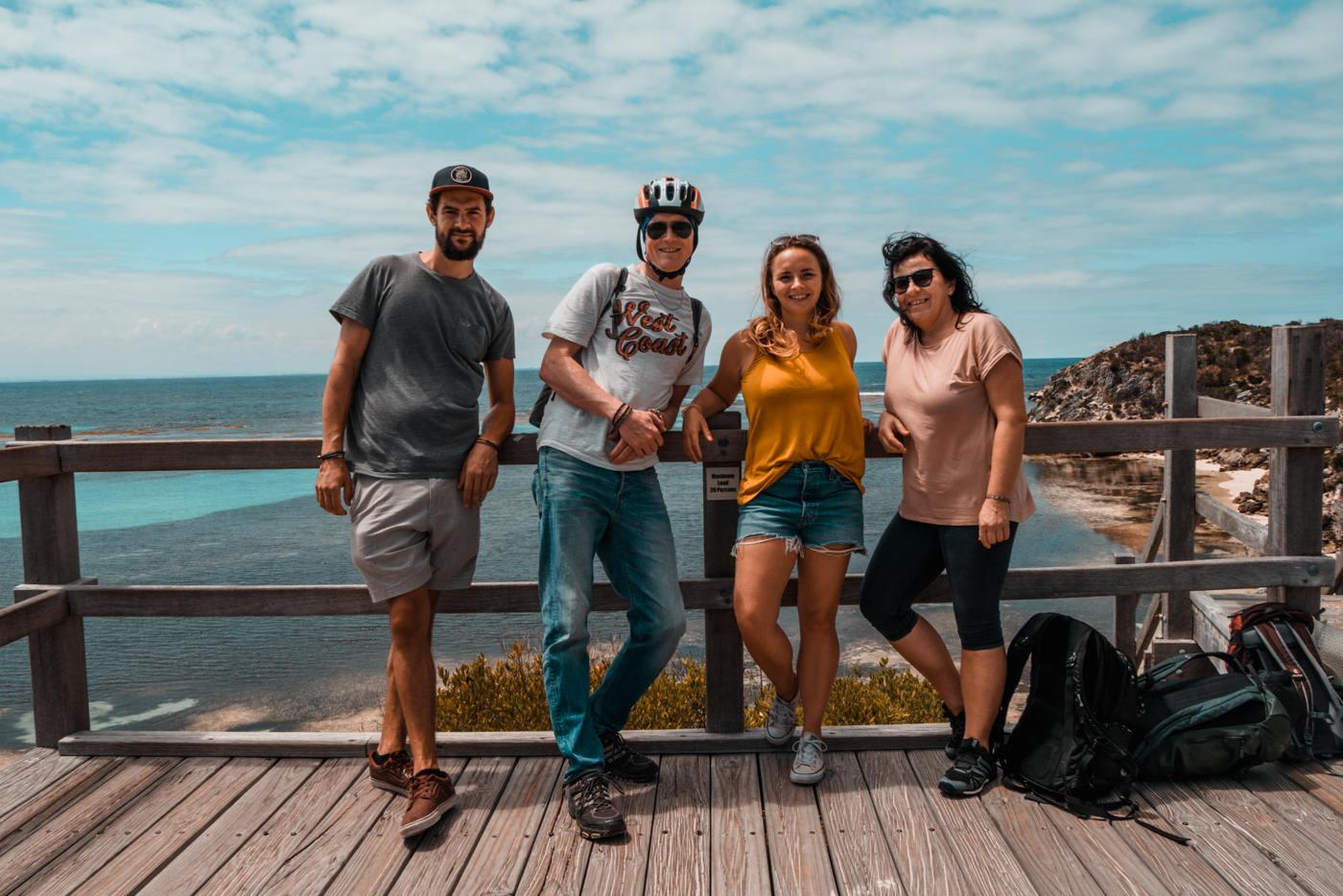Unser Besuch aus der Heimat mit uns auf Rottnest Island
