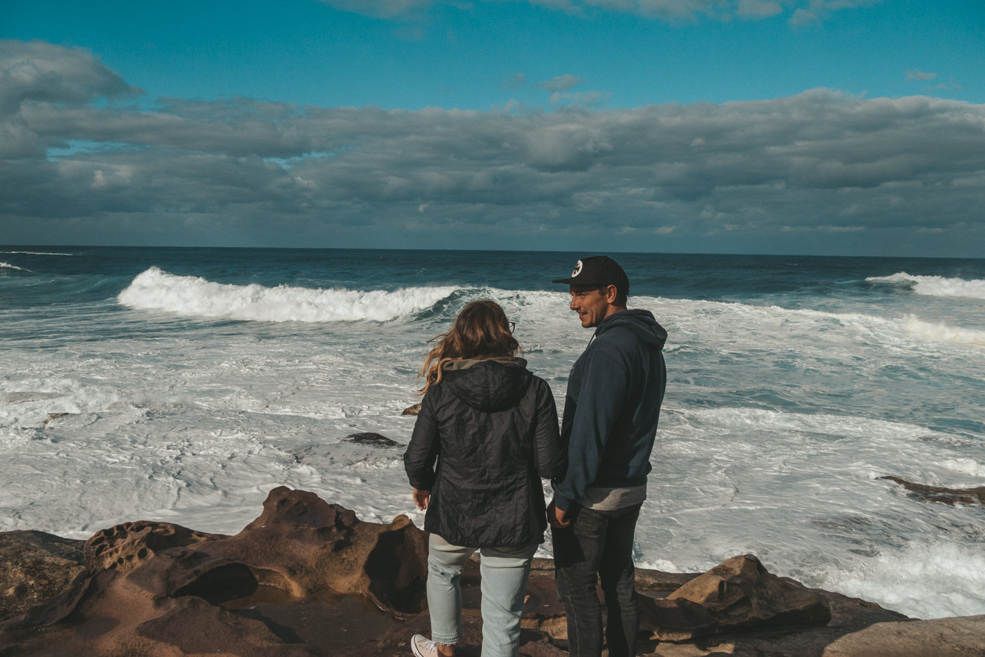 Julia und Felix am Meer in Sydney