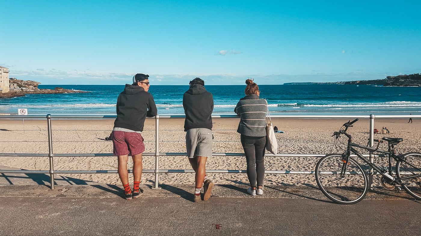 Wir am Bondi Beach