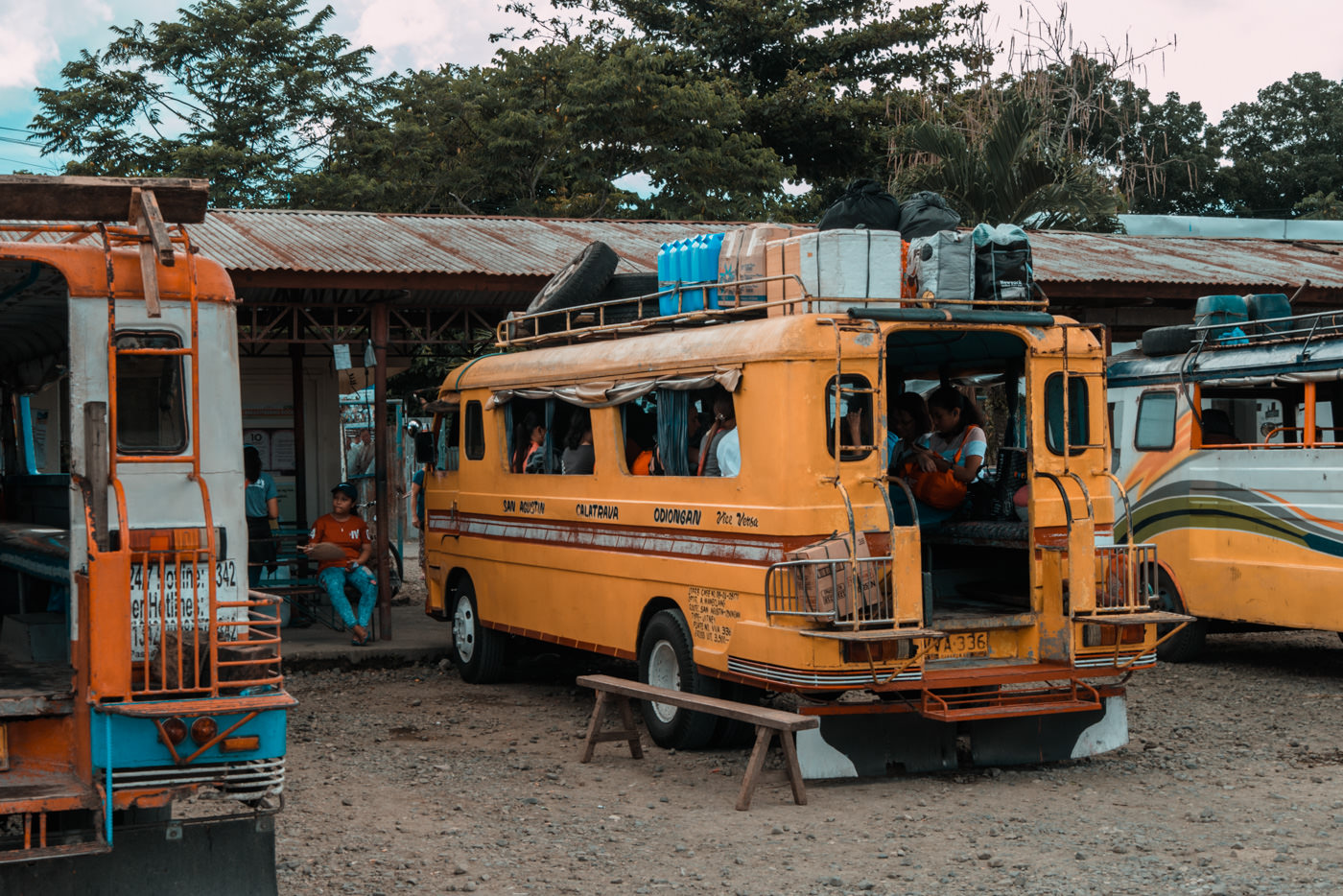 Bus nach San Agustin auf Tablas, Philippinen