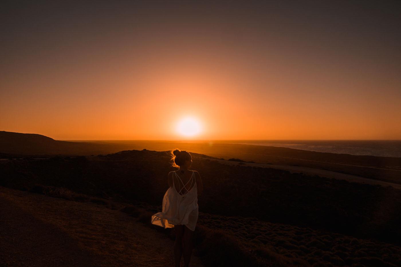 Sonnenuntergang am Leuchtturm von Exmouth