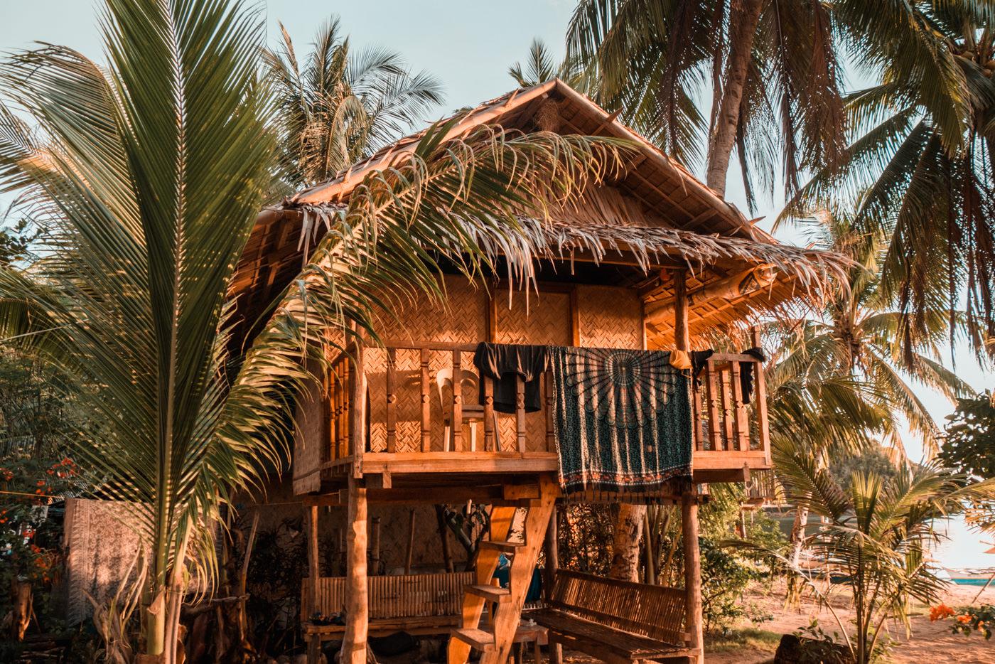 Unsere Hütte am Ocam Ocam Strand auf Busuanga