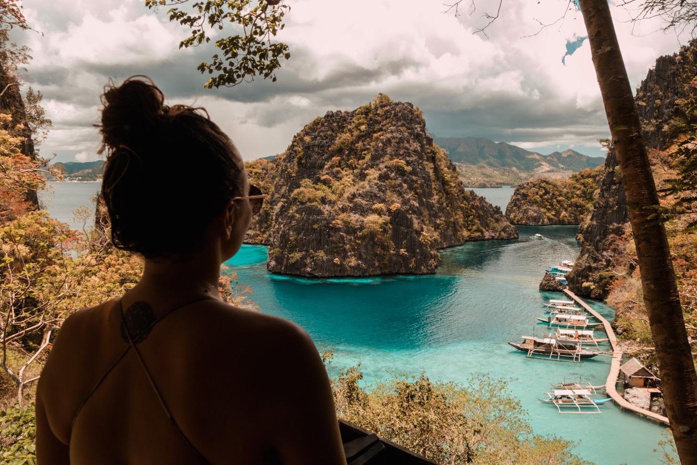 Julia auf Coron Island bei Busuanga