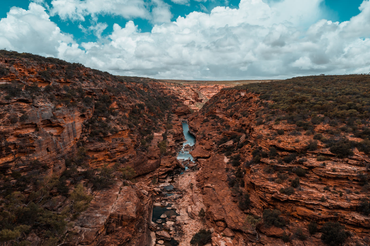 Fluss im Kalbarri Nationalpark in Australien