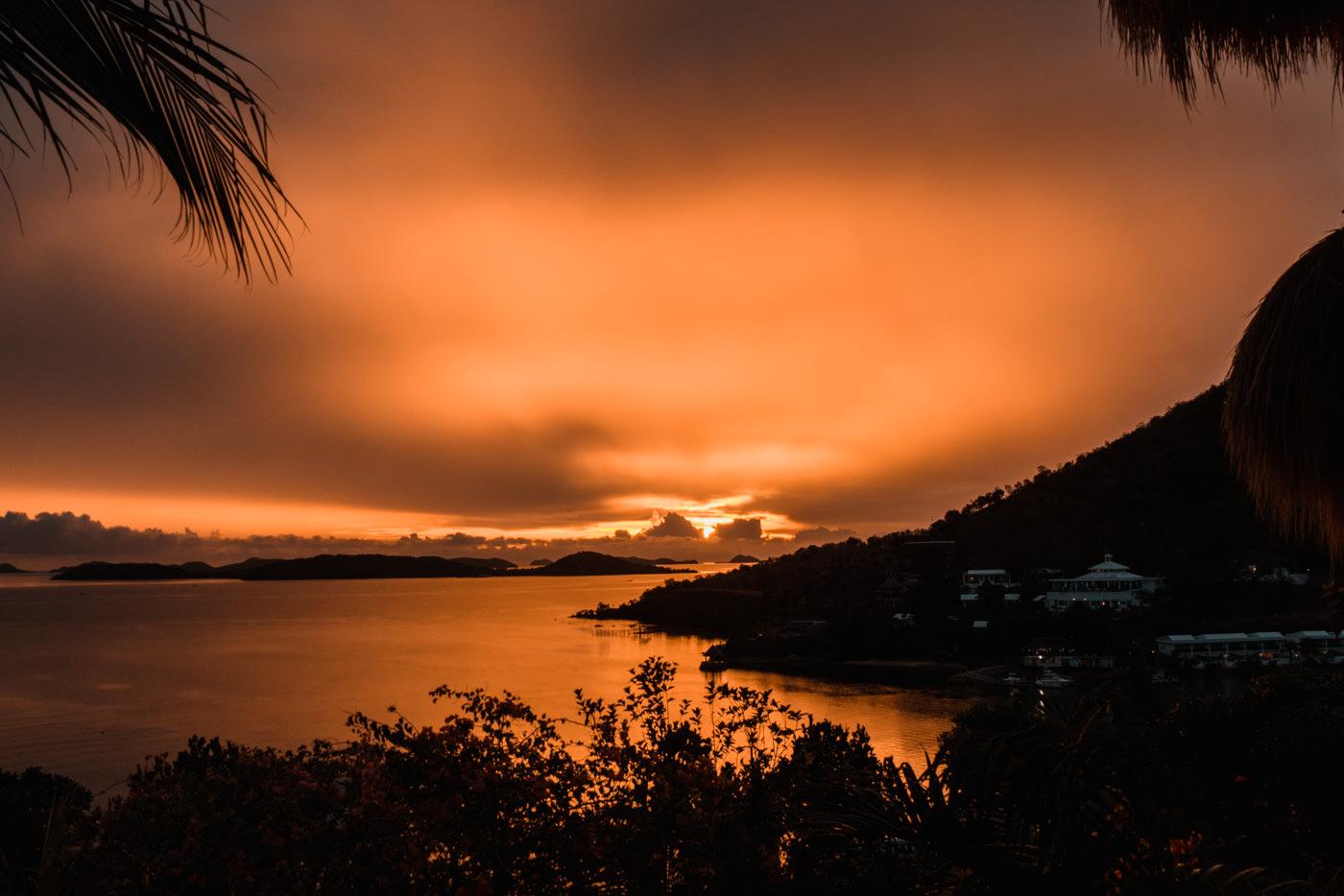 Sonnenuntergang bei Conception bei Busuanga