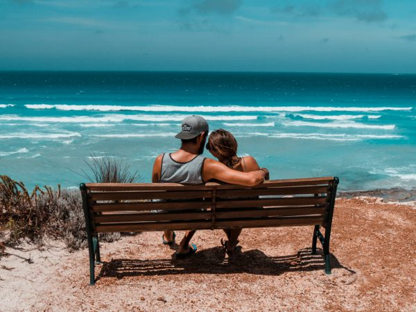 Wir am Great Ocean Drive in Südwestaustralien
