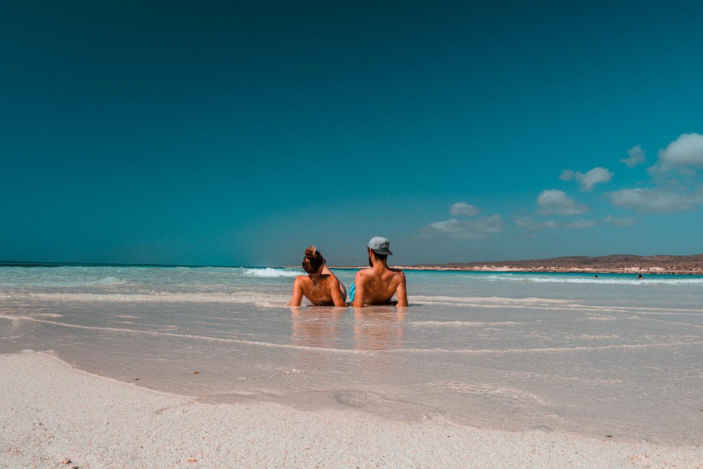 Wir liegen am Strand im Cape Range Nationalpark