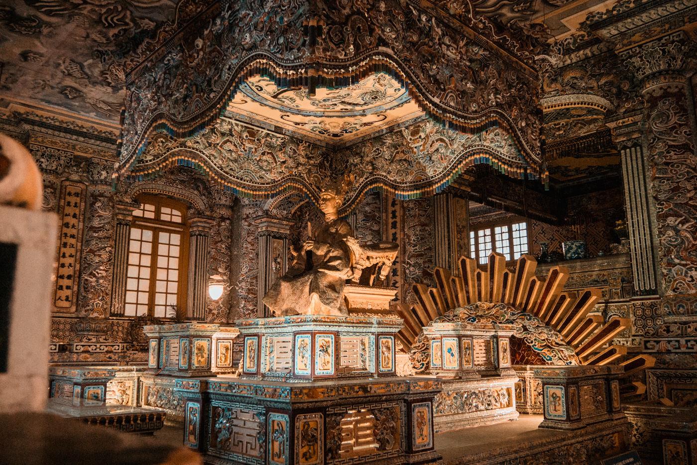 Grabstätte Khai Dinh King von innen
