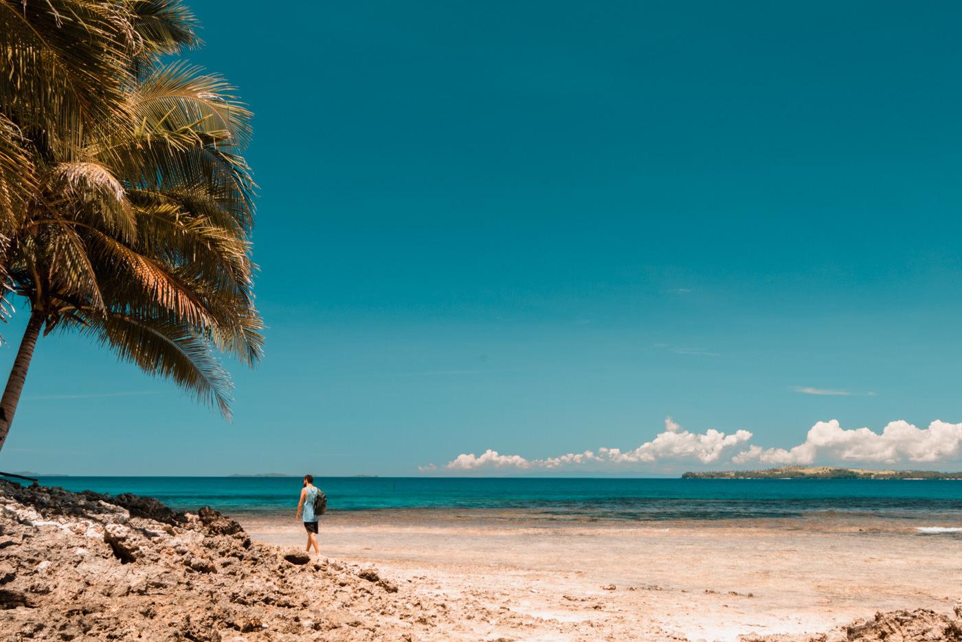 Matthias am Secret Beach auf Siargao