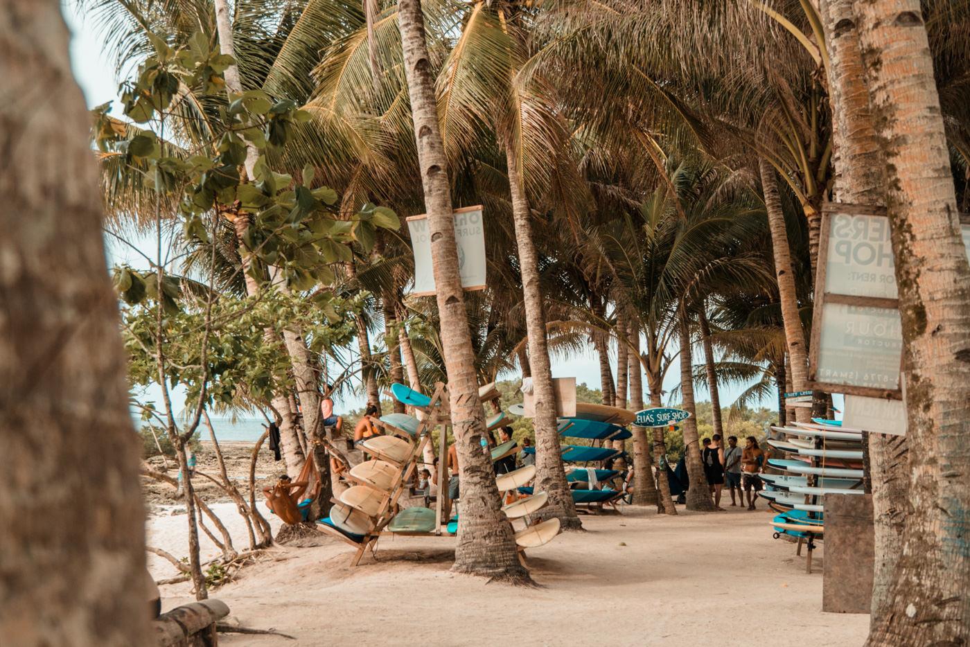 Surfschulen und Surfbrettverleih auf Siargao, Jacking Horse