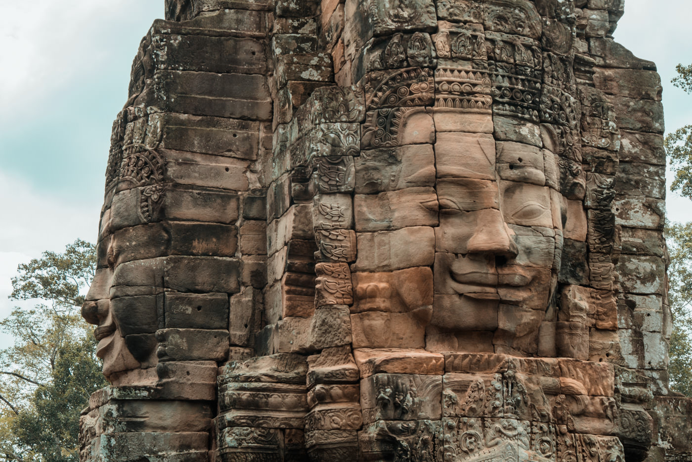 Angkor Thom, Tempel der Gesichter, Kambodscha