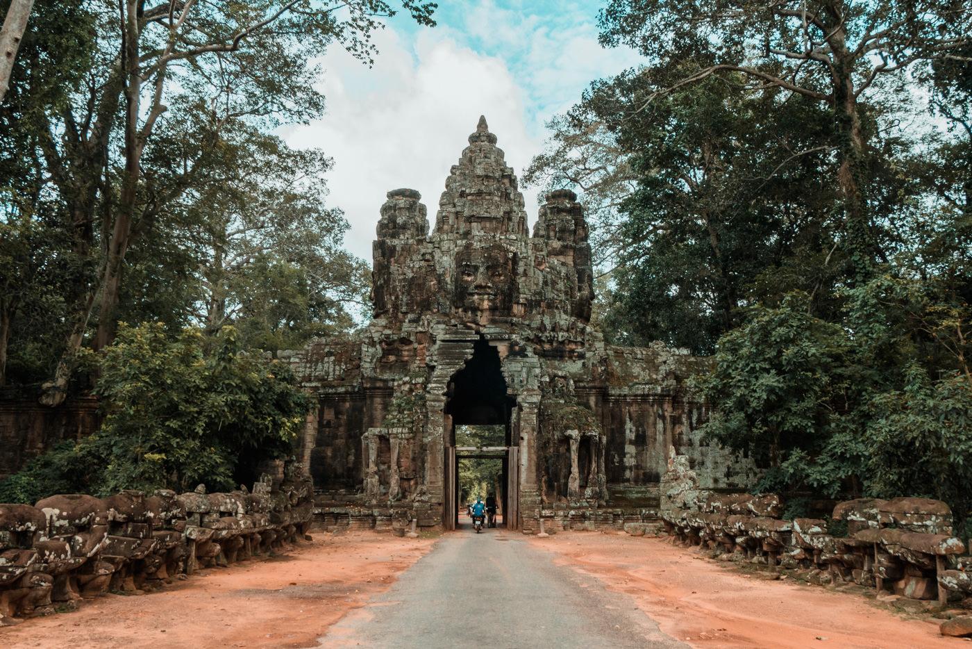 Angkor Thom Victory Gate, Angkor Wat, Kambodscha