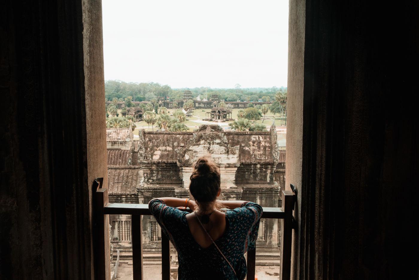Ausblick Angkor Wat, Kambodscha