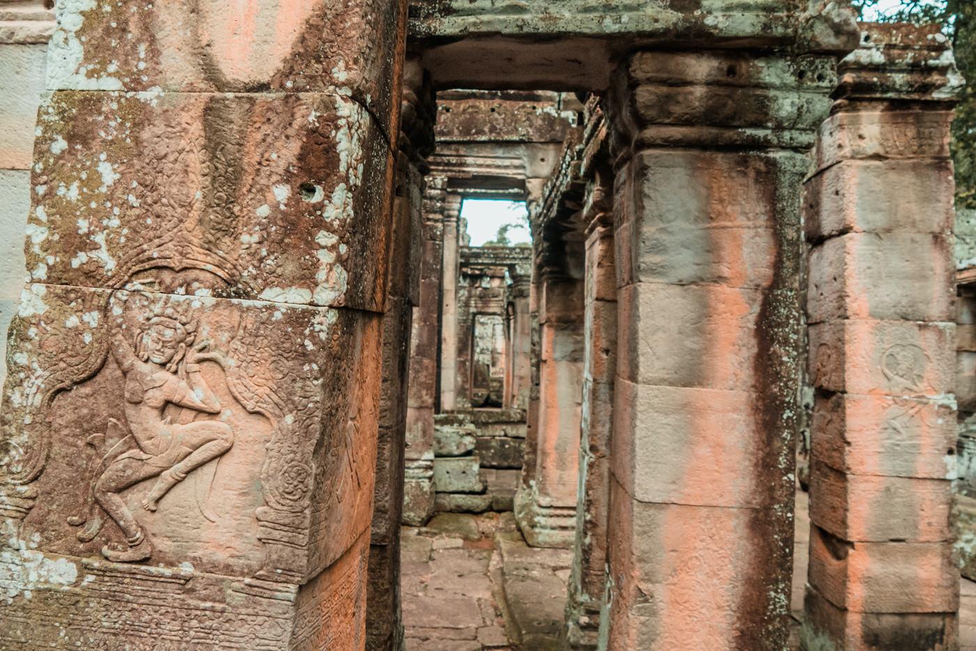 Säulen im Tempel Banteay Kdei, Angkor Wat, Kambodscha
