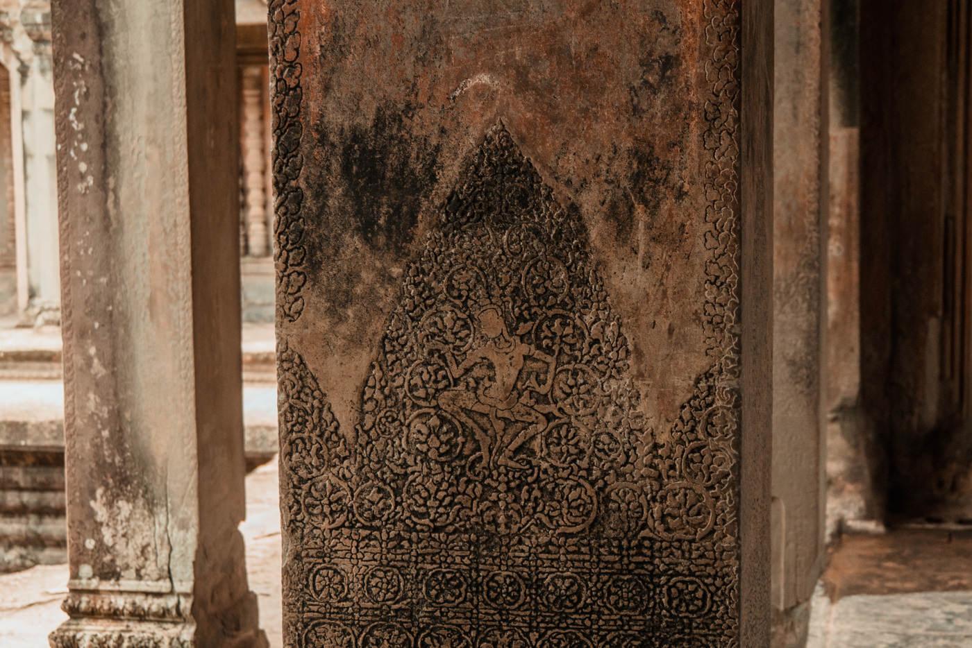 Details im Tempel Angkor Wat, Kambodscha