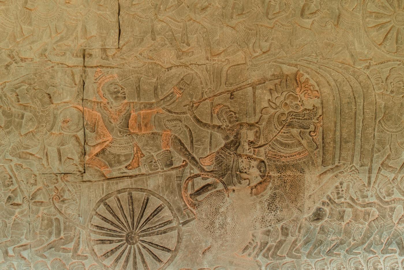Wandgemälde in Angkor Wat