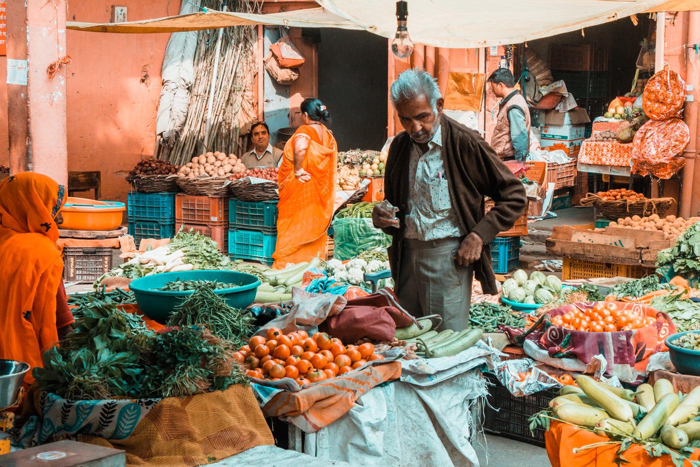 Marktreiben in Jaipur, Indien