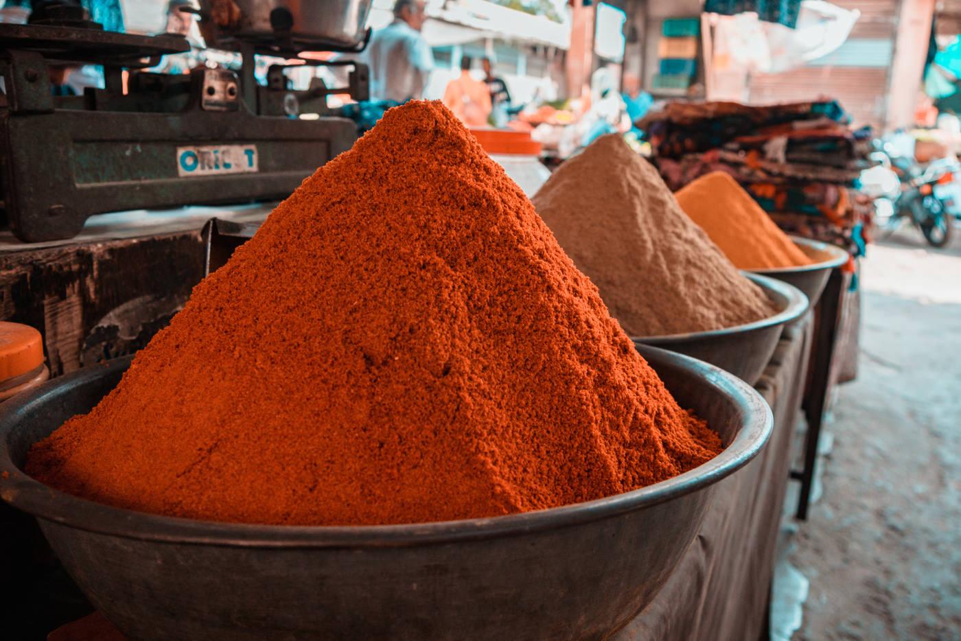 Gewürze auf dem Markt in Jodhpur